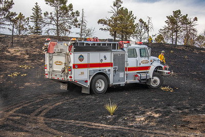 Castle Pines SB On Ramp Wildland Interface Fire