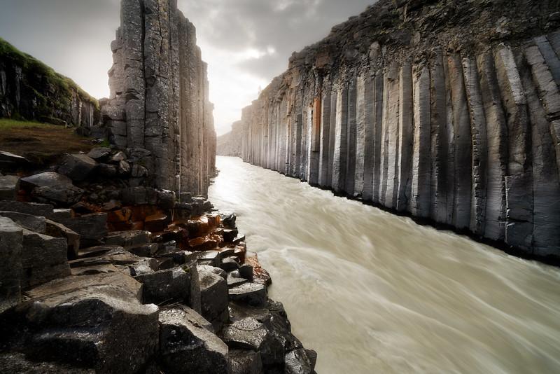 Studlagil canyon wide 12mm landscape photography iceland basalt river.jpg