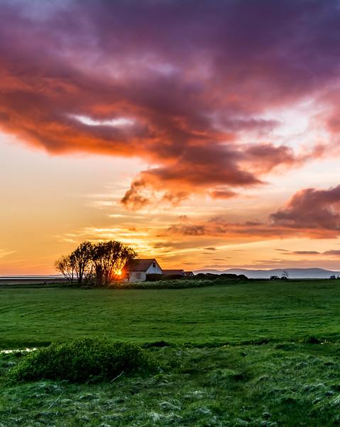 Midnight Sunset - Iceland