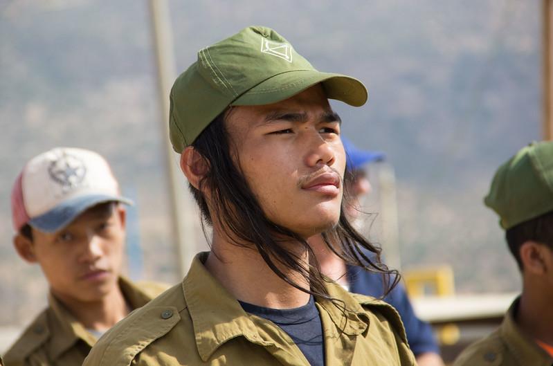 Bnei Menashe youth at Gadna - LBD3