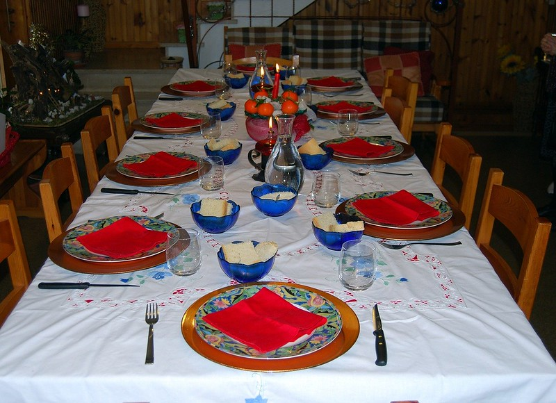 christmas eve dinner table poland