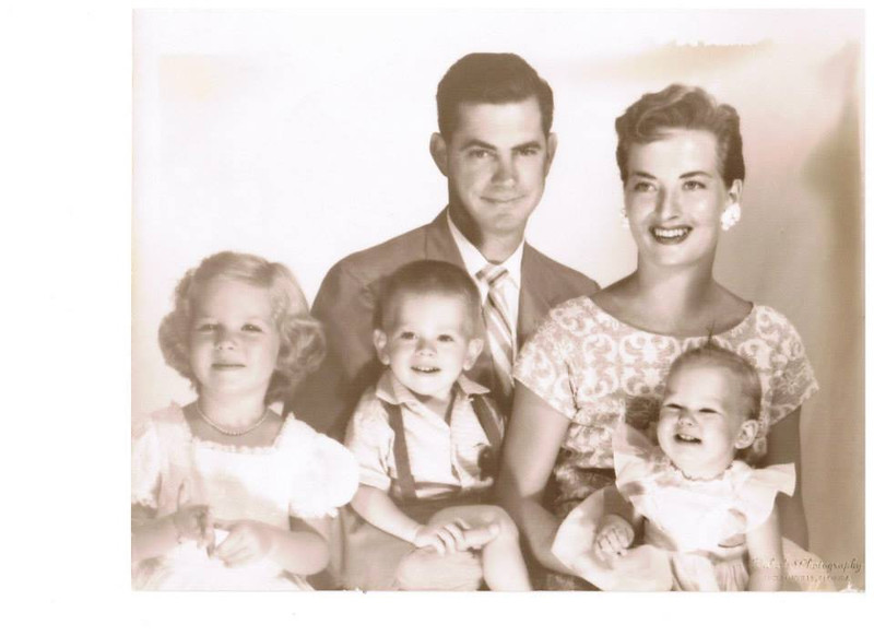 Guy Gibbons & ex with kids (L-R) - Joy (San Diego), Guy Jr (died), Glenda Gibbons - lived in Poway, California Guy was Mom's 1st cousin, my 2nd cousins