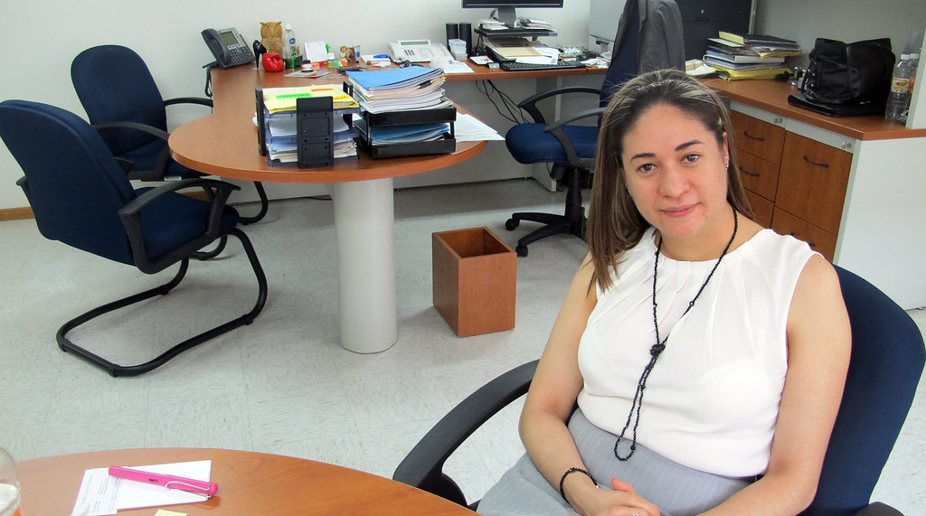 . Laura Borbolla Moreno, seen in her office in Mexico City, Mexico, is Mexico\'s special federal prosecutor for crimes against journalists. (Tim Johnson/MCT)