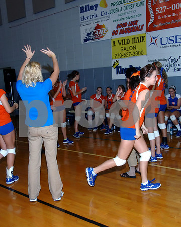 Marshall County Varsity Volleyball vs. Community Christian Academy September 30, 2010.  Lady Marshals Won 2-0.