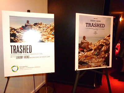 "Apr 24 Wed 2013 JEREMY IRONS presents his ""TRASHED"" at Energy For Tomorrow"