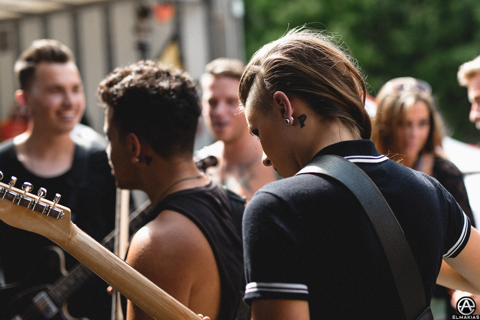 PVRIS before their set at Vans Warped Tour 2015 by Adam Elmakias