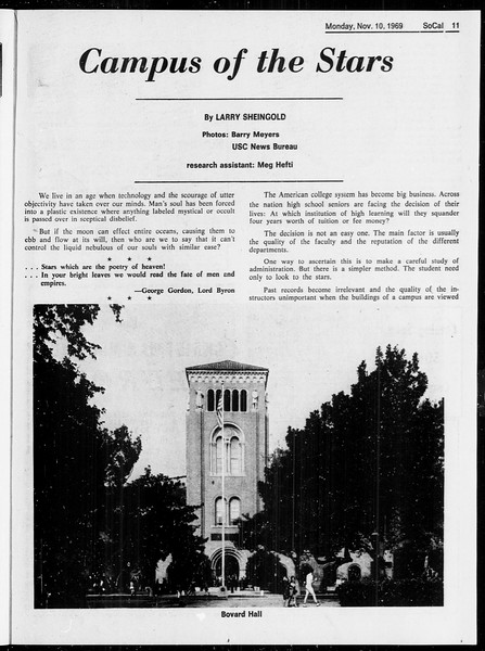SoCal, Vol. 61, No. 40, November 10, 1969
