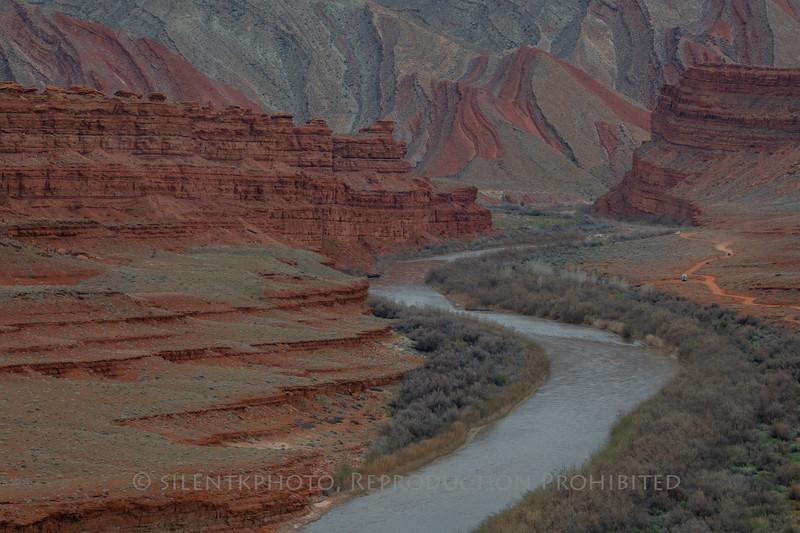 San Juan River with Painted Desert - Mexican Hat, Utah