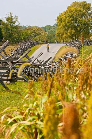 Antietam National Battlefield - Biking, Cannon, Statues