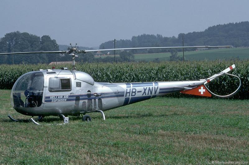 HB-XNV AB 47J-3 Heli Air Aid @ Bleienbach Switzerland 27Aug83