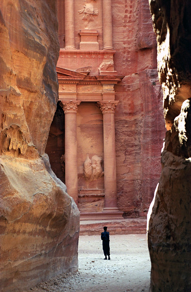 Police Guard and Treasury (Khazneh), Petra