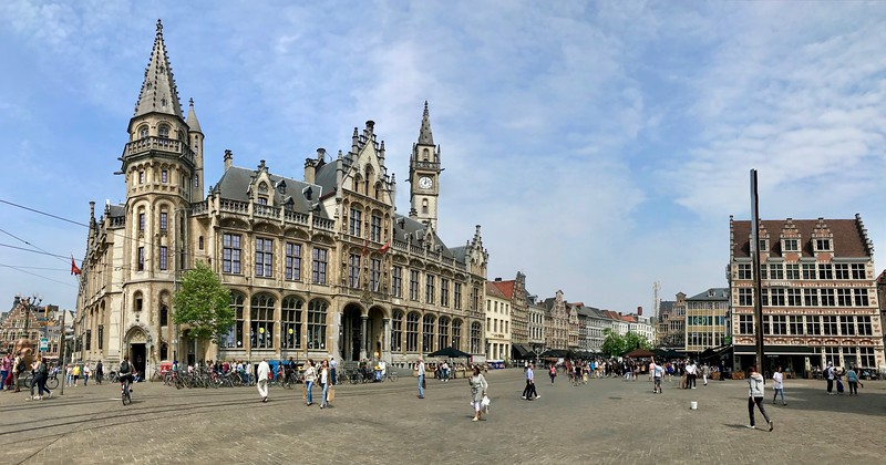 Korenmarkt -The impressive Post Office dominates this square which dates back to the 10th century - Ghent, Belgium
