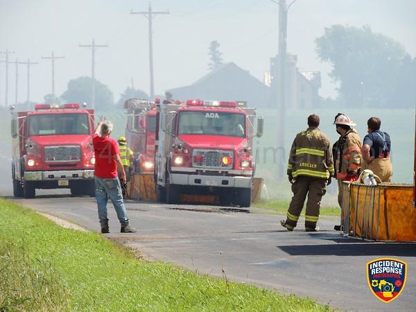 Barn fire on July 9, 2014