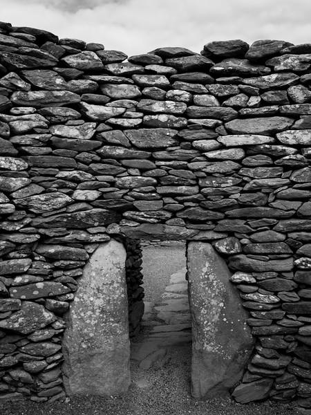 Ruins of a building, Ballyferriter, County Kerry, Ireland