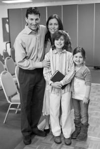 April - Jacob Reads Torah for the First Time - B&W pics