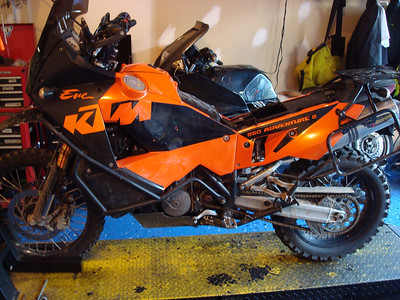 KTM Leak Repair Begins