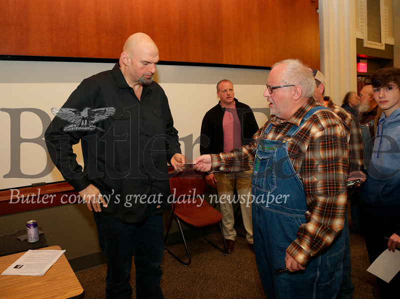 Lt. Gov. John Fetterman Listening Tour on Marijauna at SRU