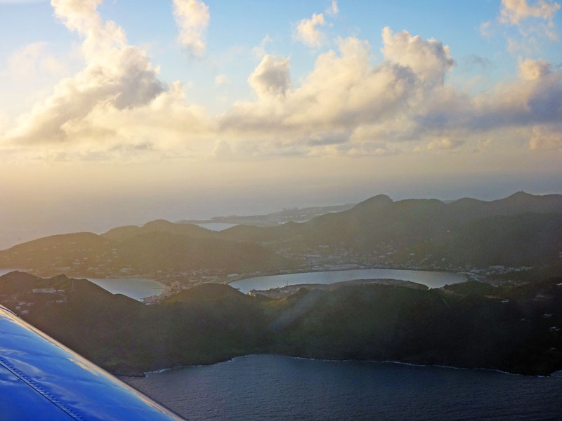 After half an hour and several islands we arrived over the stunning island of St Maarten