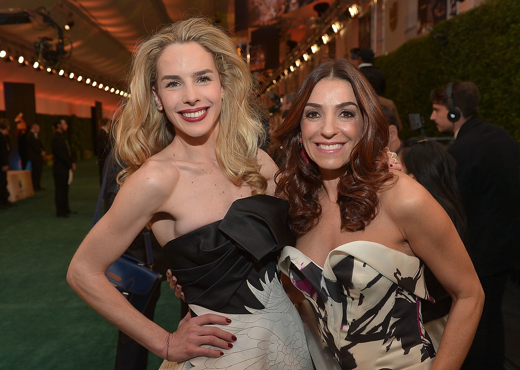 . L\'Oreal Paris blogger ambassador Kika Rocha (R) and Eglantina Zingg attend the 15th Annual Latin GRAMMY Awards at the MGM Grand Garden Arena on November 20, 2014 in Las Vegas, Nevada.  (Photo by Charley Gallay/Getty Images for L\'Oreal Paris)