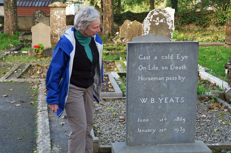 The grave of W.B. Yeats attracts the attention of an interested English major.