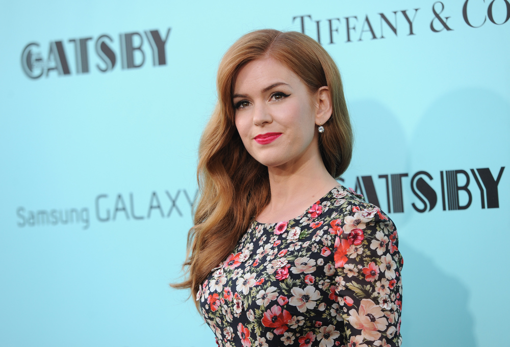 ". Actress Isla Fisher attends ""The Great Gatsby\"" premiere at Avery Fisher Hall on Wednesday, May 1, 2013, in New York. (Photo by Evan Agostini/Invision/AP)"