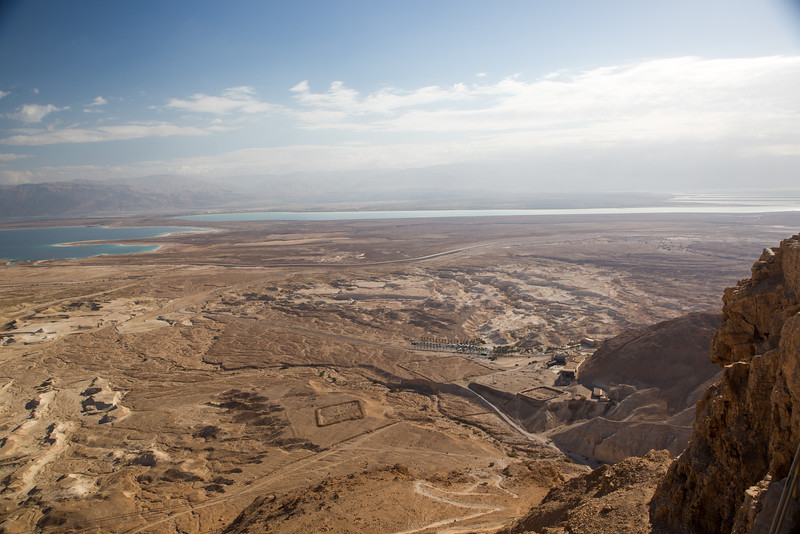 Dead Sea Viewed from Atop Masada