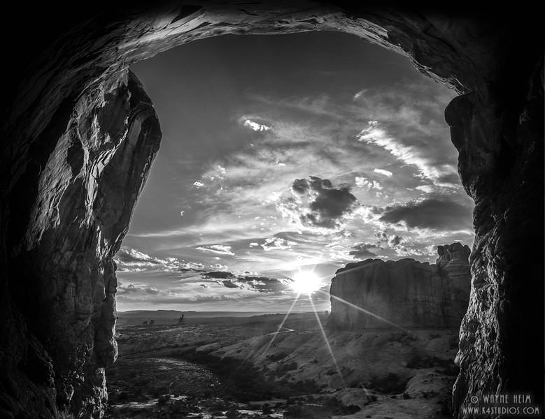 Arch View - Black  & White Photography by Wayne Heim