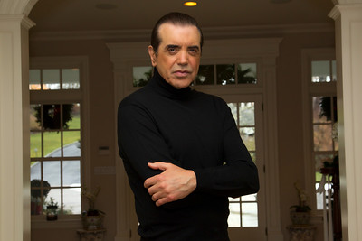 BEDFORD, NY - JANUARY 27:  Cover Photo Shoot for Edge Magazine at private residence of Chazz Palminteri on January 27, 2012 in Bedford, NY.