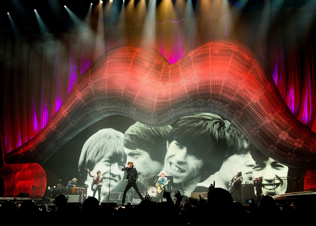 . The Rolling Stones perform in concert on Saturday, Dec. 8, 2012 in New York. (Photo by Charles Sykes/Invision/AP)