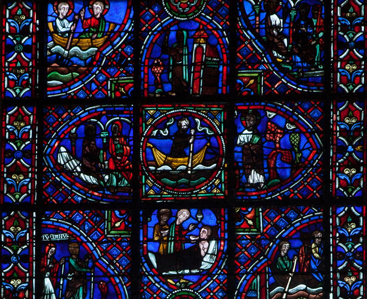 Rouen, Notre-Dame Cathedral Julian the Hospitaller Window