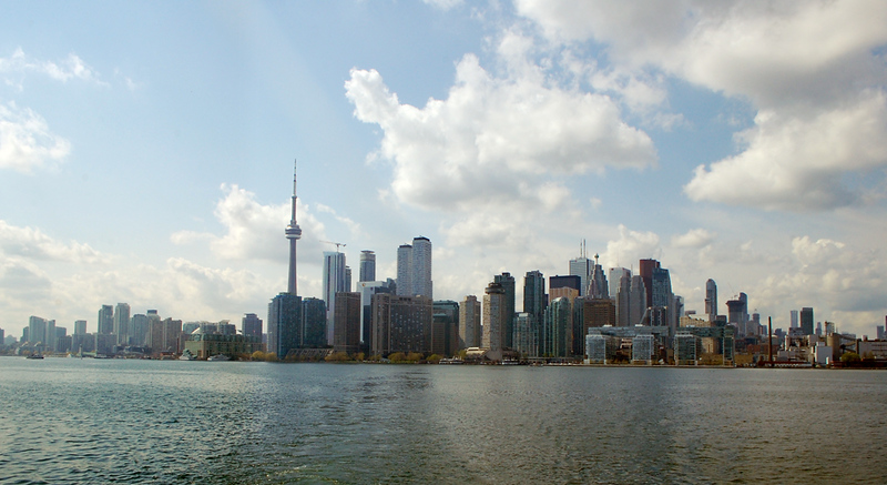 While spending 3 days in Toronto, you'll see the skyline of highrises along waterfront many times.