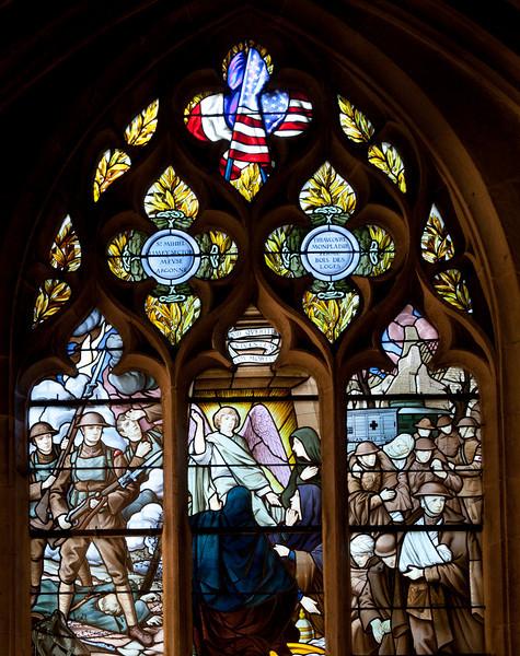 Semur-en-Auxois Collegiale, U.S. Military Memorial Window