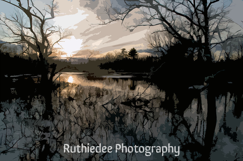 Swamp at dusk...