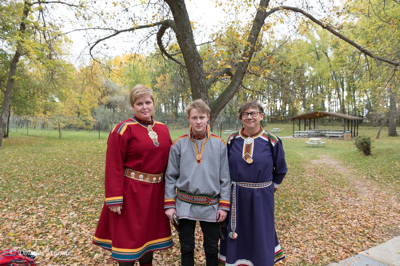 Norweigan Visitors in Traditional Garb