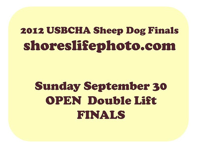 OPEN Double Lift FINALS Sept 30