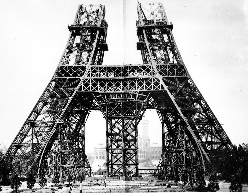 . This is an 1887 photo of the Eiffel Tower in Paris, France.  (AP Photo)