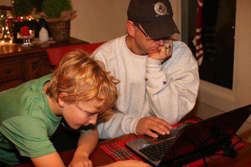setting up Wyatt's new laptop