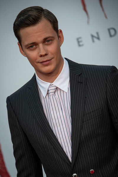 """WESTWOOD, CA - AUGUST 26: Bill Skarsgard attends the Premiere Of Warner Bros. Pictures' """"It Chapter Two"""" at Regency Village Theatre on Monday, August 26, 2019 in Westwood, California. (Photo by Tom Sorensen/Moovieboy Pictures)"""