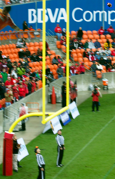 A point-after ball passes through the uprights.