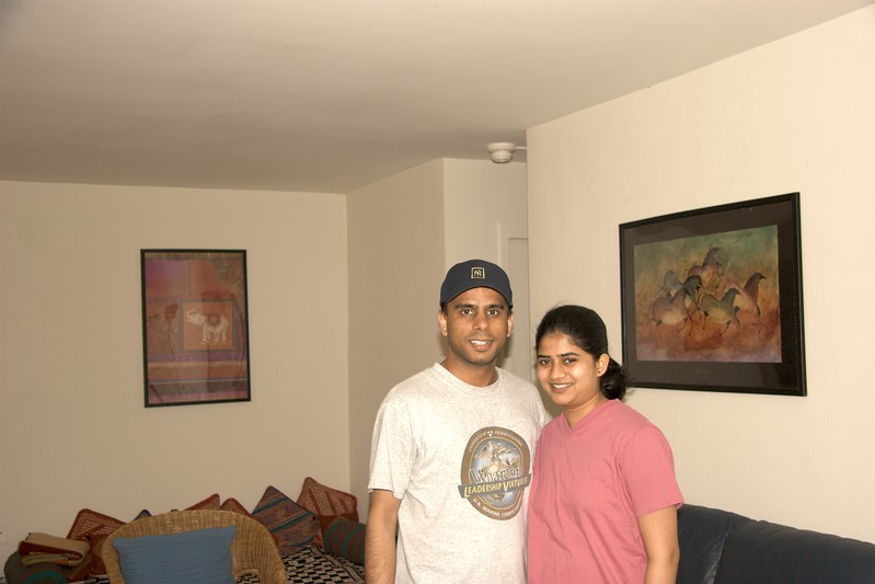 My friend Jesal and his wife Swati