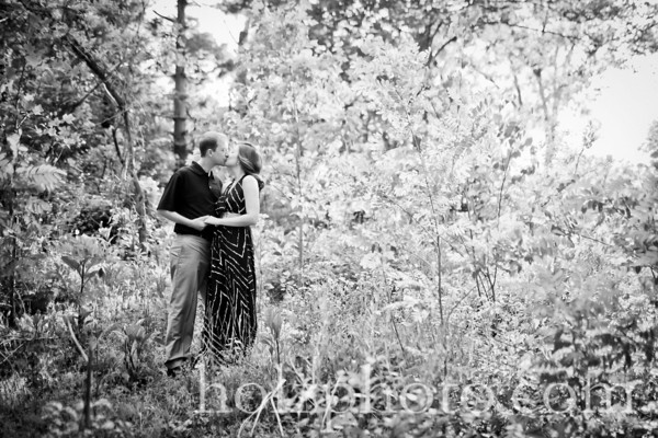 Michelle and Michael B/W Engagement Photos