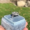 2.85ct Antique Cushion Cut Diamond Halo Ring 42