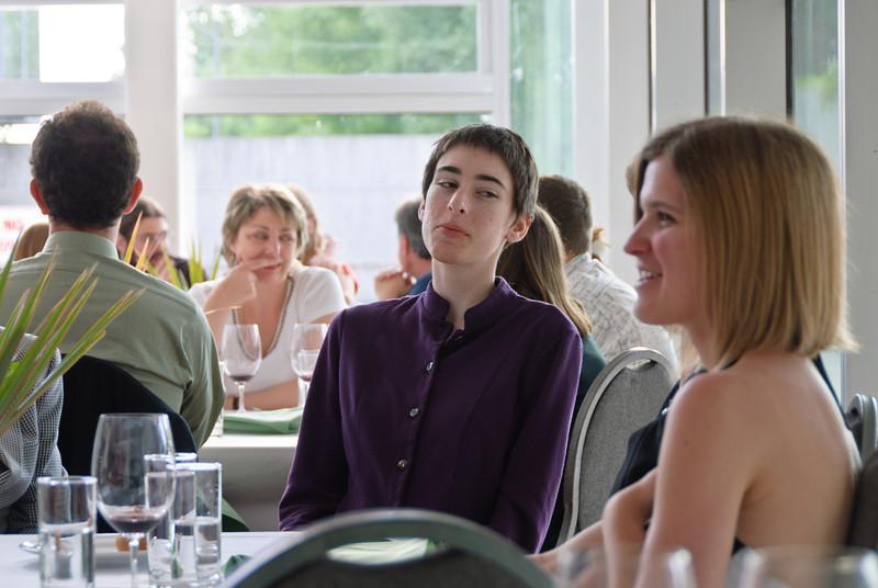 Beth socializing in the PSI Bistro