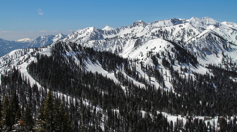 Brighton Ski Area, Big Cottonwood Canyon, Wasatch  Range, Utah