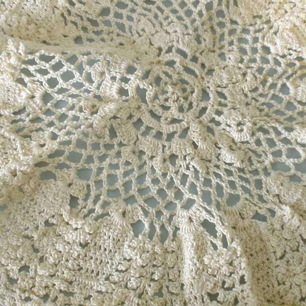 Doily crocheted by Susan Veronicia (Lukens) Keating.