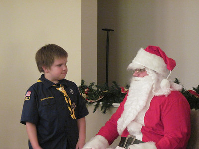 Pack 895 and Santa Claus December 2009