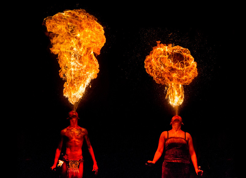 Human Dragons! Fire Breathers at the Singapore Night Safari