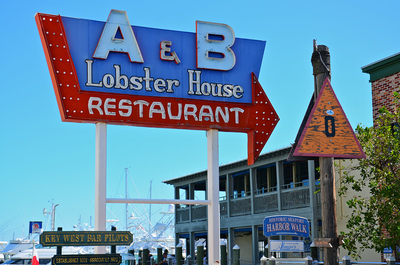 The A&B Lobster House is located in the Key West Harbor in Old Town Key West and along with its marina is a main attraction for both boaters and tourists alike.