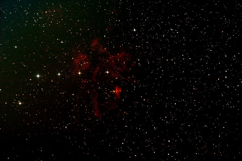 NGC6357 - Gum 66 - War and Peace Nebula - 9/10/2012 (Processed stack)