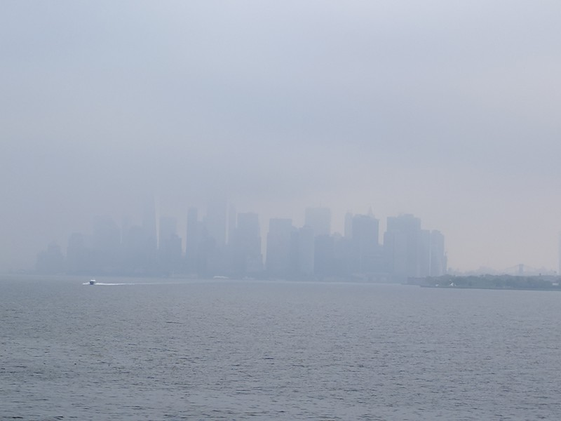 Manhattan in fog